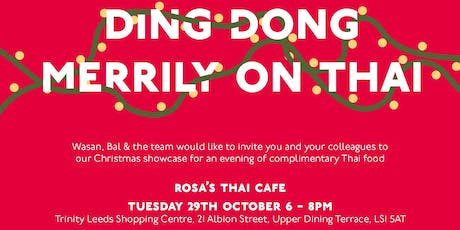 Rosa's Thai Cafe Xmas Showcase and Networking evening tickets
