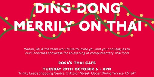 Rosa's Thai Cafe Xmas Showcase and Networking evening
