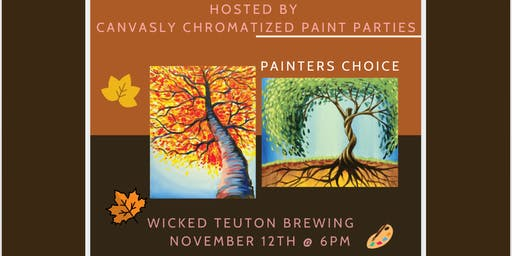 Thankful, Trees of Life Paint & Sip @ Wicked Teuton