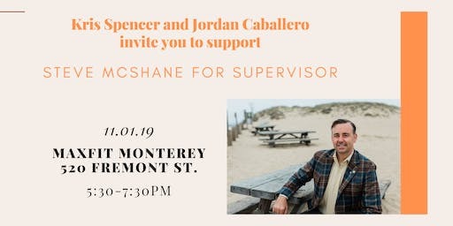 Kris Spencer and Jordan Caballero invite you to support Steve McShane