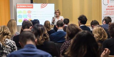 Corso Pratico di Public Speaking & Video Public Speaking biglietti