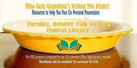 Who Gets Grandma's Yellow Pie Plate? tickets