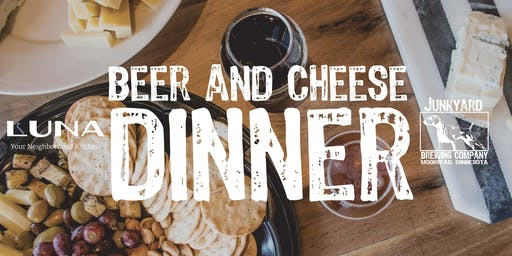 Beer & Cheese Dinner October 14th at Junkyard Brewing Co.