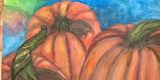 Wine & Watercolors with Maggie Fuller: Pumpkins & Harvest Night