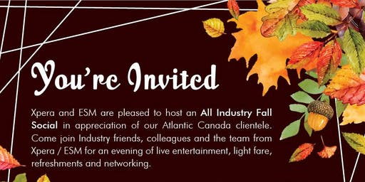 4th Annual All Industry Atlantic Fall Social