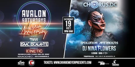 AVALON 1 Year Anniversary: KINETIC + Chorus DC Afterhours tickets