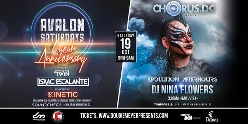 AVALON 1 Year Anniversary: KINETIC + Chorus DC Afterhours