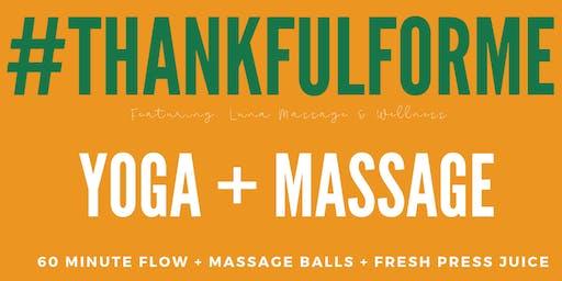 Thankful for ME / A Self-Care Yoga & Massage Night