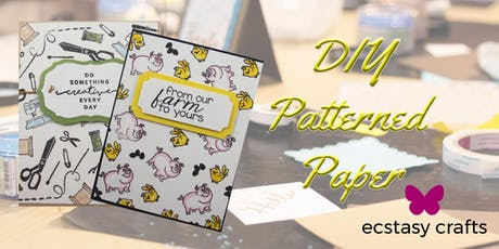 DIY Patterned Paper tickets