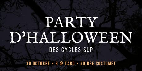 Party d'Halloween des cycles sup billets