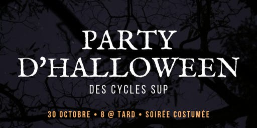 Party d'Halloween des cycles sup
