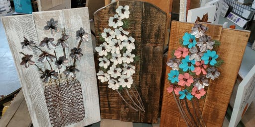 Pine Cone Flower  Stone & Pallet™ Schererville - Eco-friendly Home Goods made by YOU!