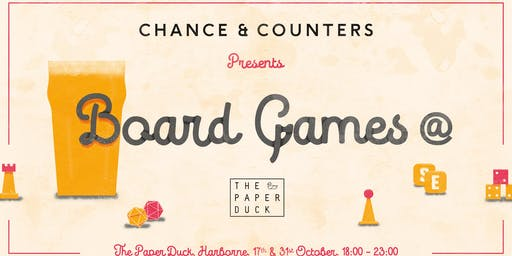 Chance & Counters @ The Paper Duck: Board Game Night!