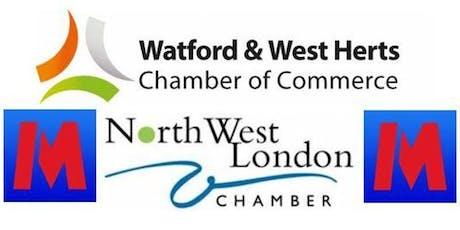Watford & NW London Chamber - Metro Bank Harrow Networking - 25th October tickets