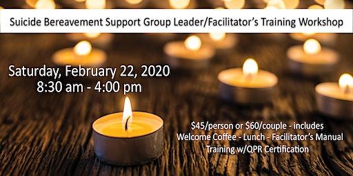 Suicide Loss Survivor Support Group Leader/Facilitator Training Workshop