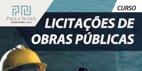 Licitações de Obras Públicas ingressos