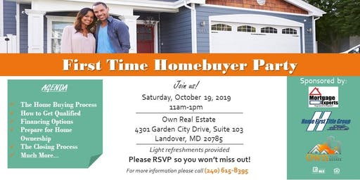 First Time Homebuyer Party