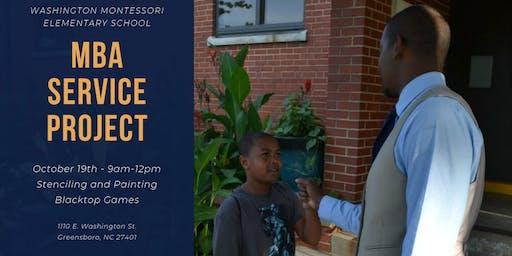 MBA Service Project - Washington Montessori Elementary School