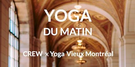 Yoga du matin au Crew Collectif et Café tickets