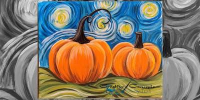 Van Gogh Pumpkin Canvas or Slate Paint Night