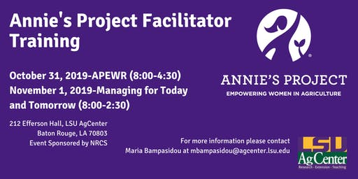 Annie's Project Facilitator Training Louisiana
