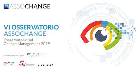 Convegno di presentazione dei risultati dell'Osservatorio 2019 e Premi Assochange 4 dicembre 2019 mattina biglietti