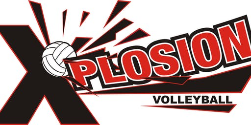 Xplosion Volleyball PRE-TRYOUT Clinic, Sunday, Oct. 27, 2019