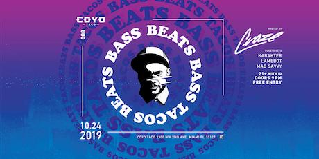 Beats, Bass & Tacos - Craze + Guests // 10.24.2019 tickets