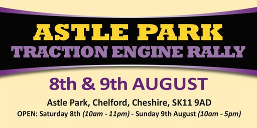 Astle Park Traction Engine Rally 2020 (Buy Admission Tickets)
