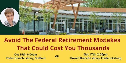 Free Federal Retirement and Benefits Workshop - Porter Lib (Few Seats Left)