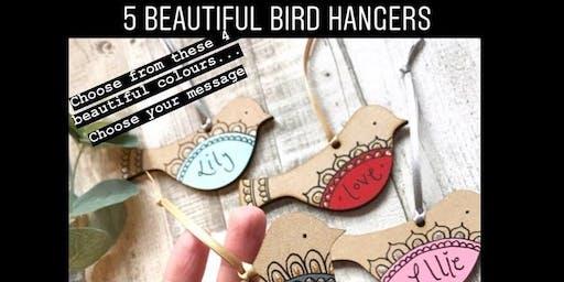 5 Beautiful Bird Hangers Workshop