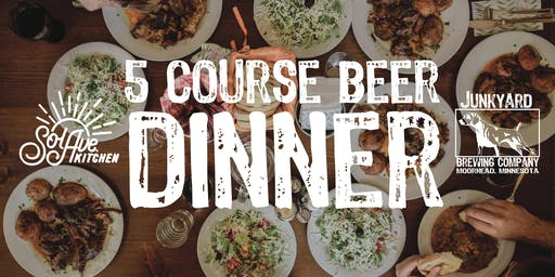 5 Course Beer Dinner w/ Sol Ave. Kitchen Nov. 25th at Junkyard Brewing Co.