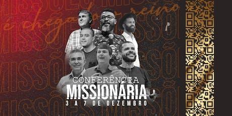 Conferência Missionária ingressos