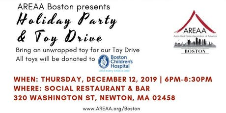 AREAA Boston's Holiday Party & Toy Drive tickets