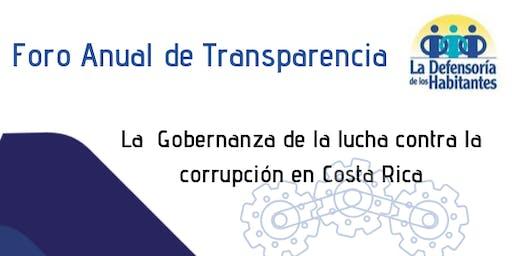 FORO ANUAL DE TRANSPARENCIA 2O19