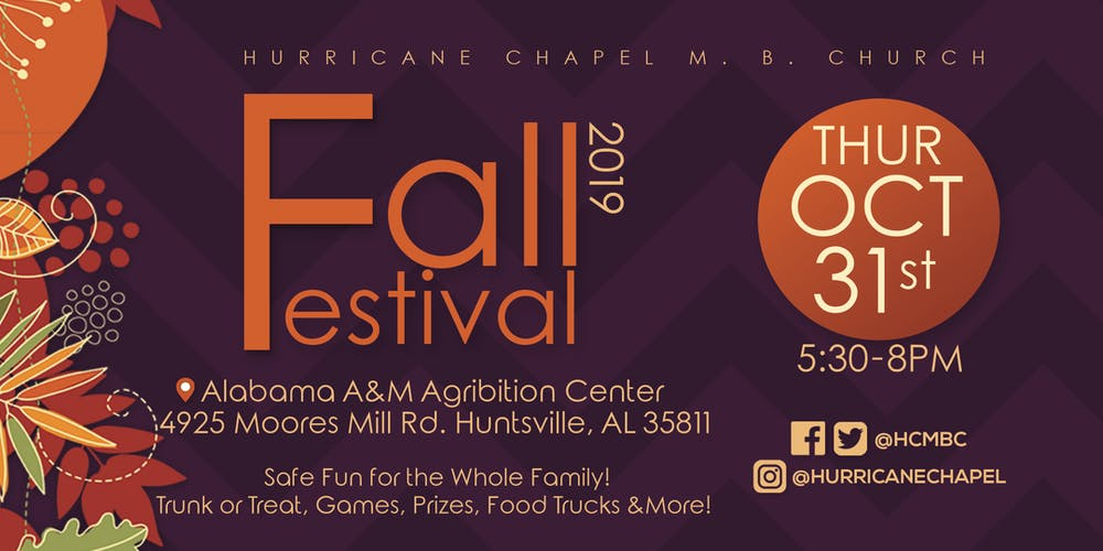 Halloween Events 2020 Alabama.Hurricane Chapel Fall Festival 2019 Tickets Thu Oct 31