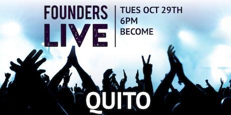Founders Live Quito entradas