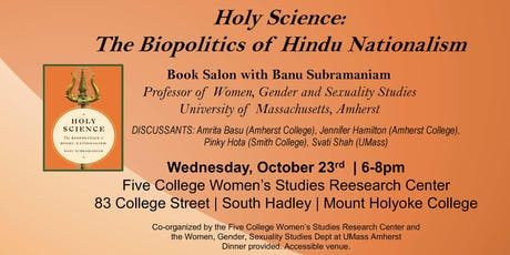 Holy Science! Book Salon with Banu Subramaniam tickets