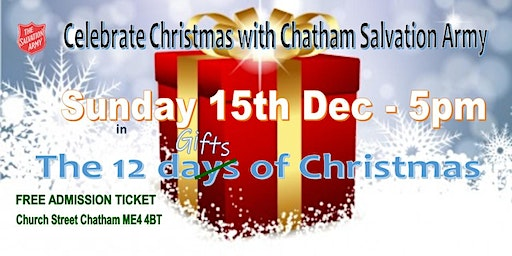 SUNDAY 15th Dec  Christmas with The  Salvation Army
