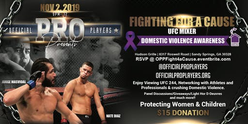 Official Pro Players Fighting For A Cause