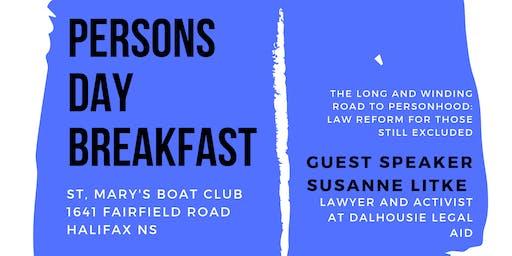LEAF Halifax Persons Day Breakfast