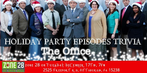 """The Office Trivia """"The Holiday Party Episodes"""" at Zone 28"""