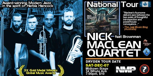 NICK MACLEAN QUARTET feat. BROWNMAN ALI (Dryden)