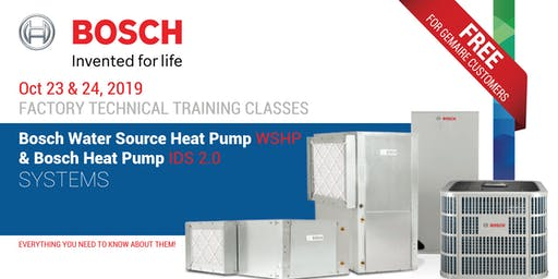 BOSCH WSHP & IDS 2.0 Technical Training Classes