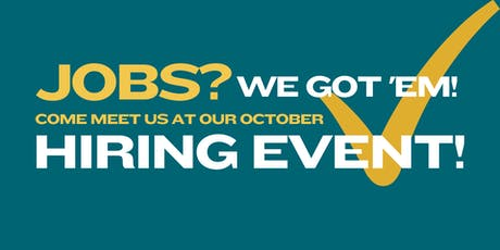 Youth Homes October Hiring Event tickets