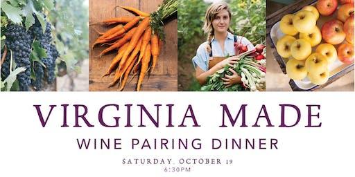 Virginia-Made Wine Pairing Dinner with Chef Ryan Ross & Lucinda Smith