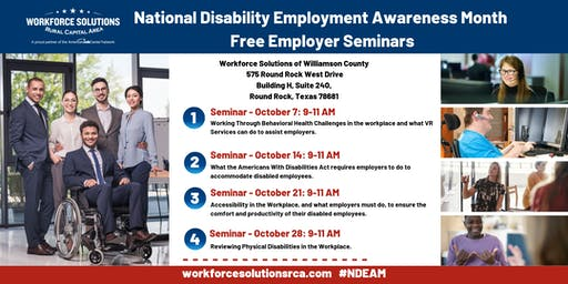 NDEAM Employer Seminar 4: Physical Disabilities in the Workplace