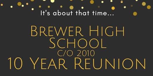 Brewer High School C/O 2010 Reunion