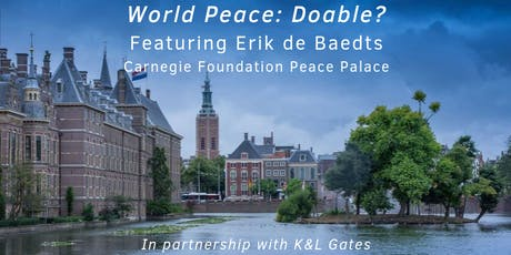 World Peace: Doable? Featuring Erik de Baedts tickets