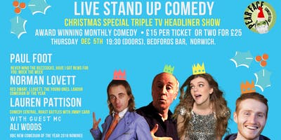 Christmas Special  Stand up with Paul Foot, Norman Lovett & Lauren Pattison